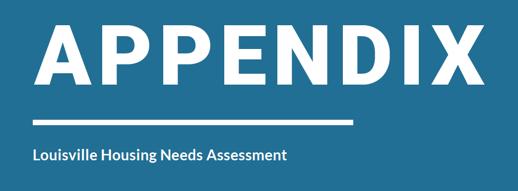 Appendix – Louisville Housing Needs Assessment